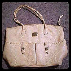 Dooney & Bourke Ivory Crescent Tote Bag